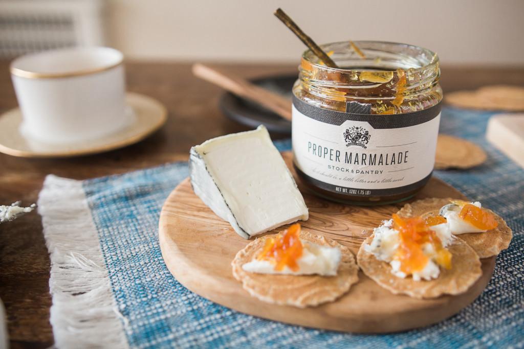 Stock & Pantry's Proper Marmalade with Tomme de Chèvre. Misscheesemonger.com