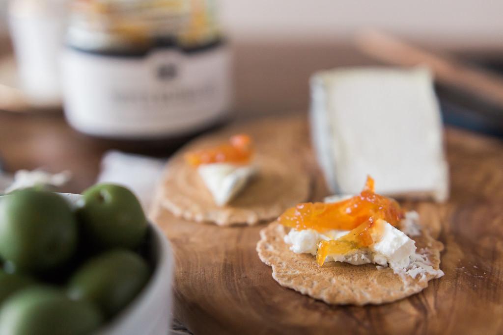 Tomme de Chèvre + Stock & Pantry's Proper Marmalade. Misscheesemonger.com.