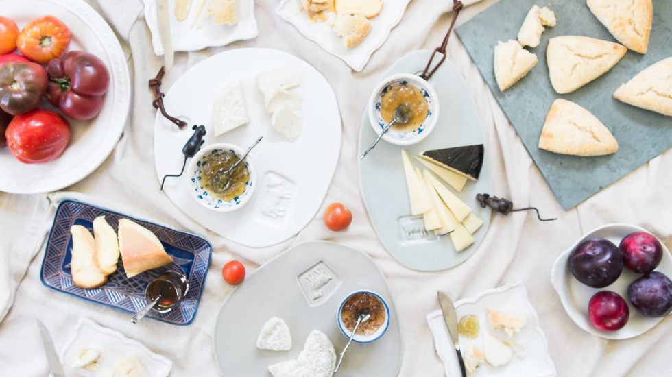 A summery cheese and condiment pairing with misscheesemonger.com.