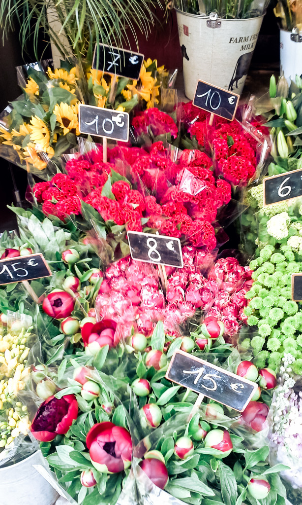 Flowers, flowers, everywhere! In Paris. misscheesemonger.com.