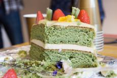 Green Tea Velvet Cake by Bunsen Baker! From misscheesemonger.com.
