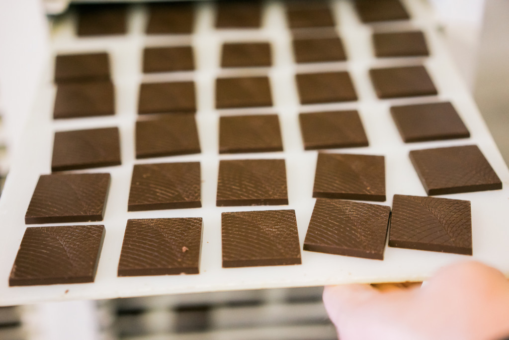 Chocolate squares from Madagascar. ||| Des carrés de chocolat de Madagascar. A Taste of Tcho Chocolate: By San Francisco food photographer Vero Kherian at misscheesemonger.com.