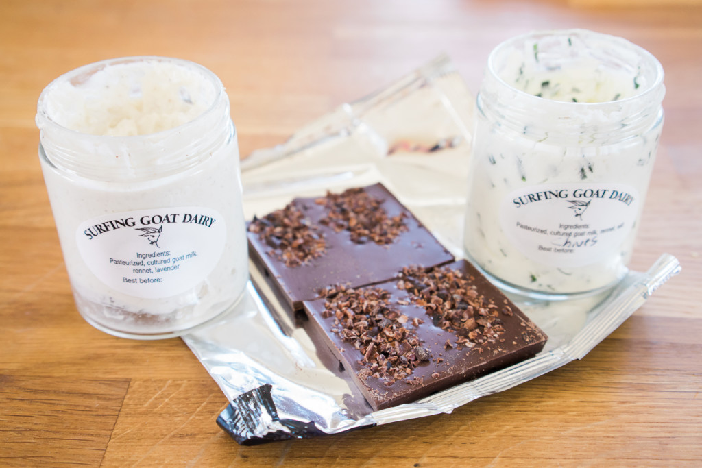 Chocolate and goat cheese pairing on Misscheesemonger.com