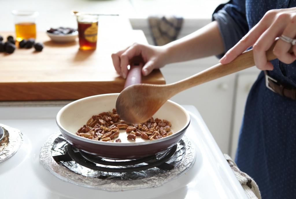 Toasting my pecans.