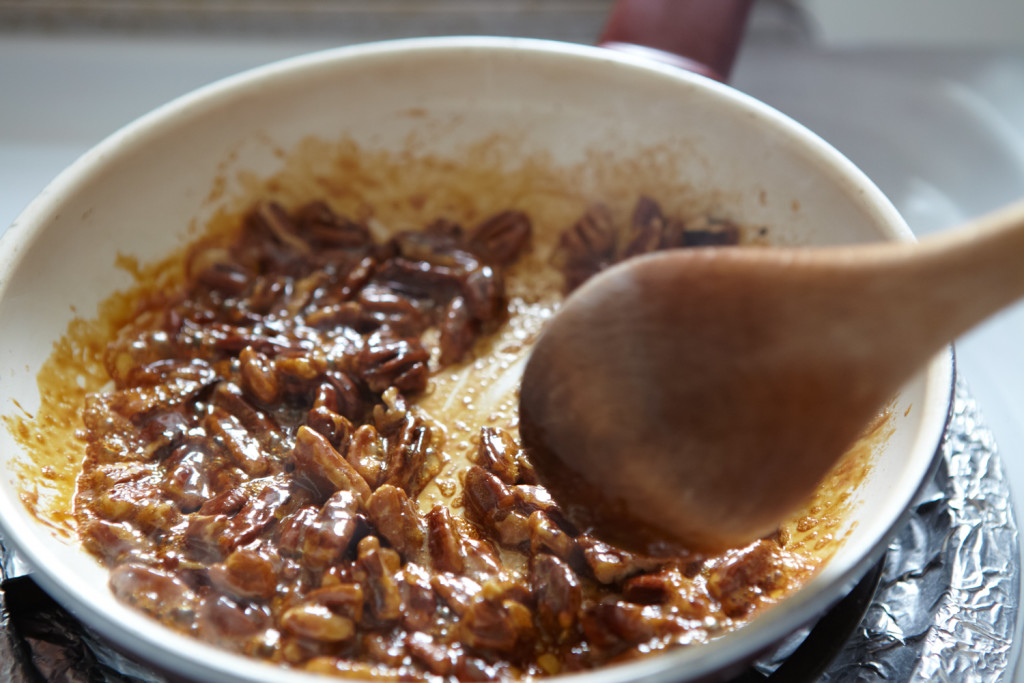 Stirring, stirring, stirring. I wish I could transmit the smell!