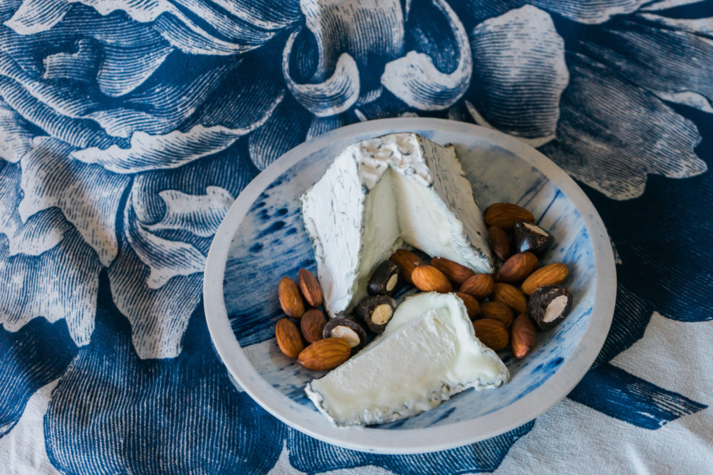 A cheese pairing with Bloomsdale, an American goat cheese. On misscheesemonger.com.