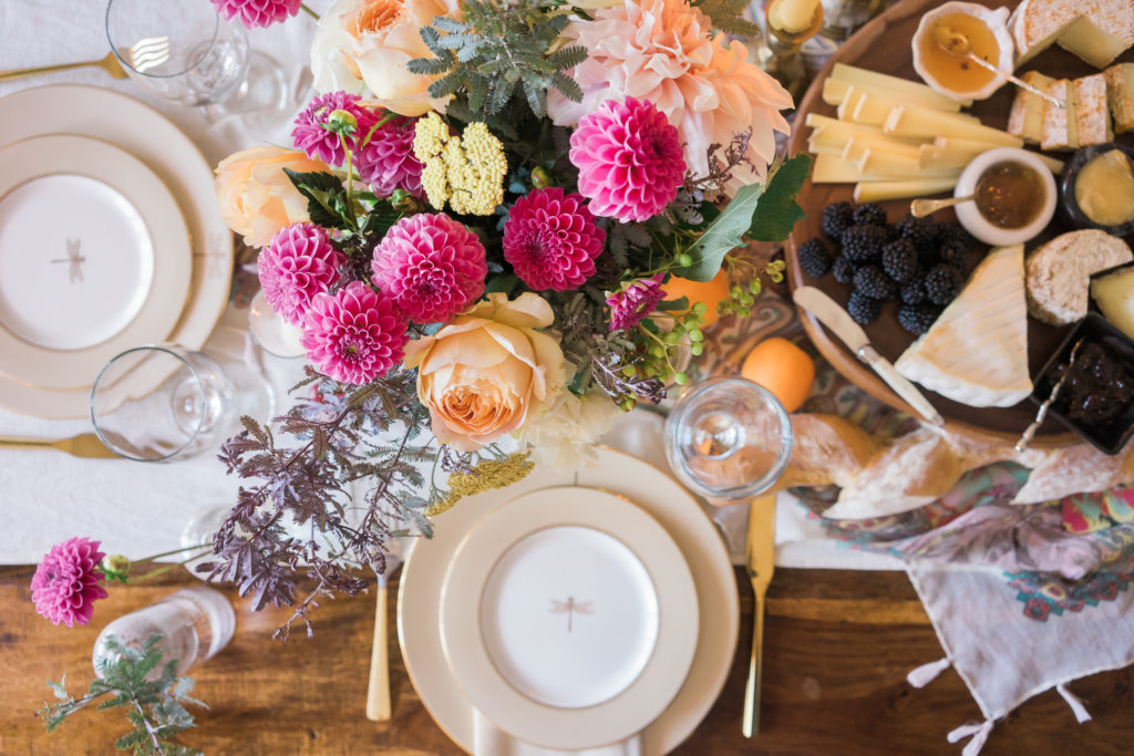 Host an Elegant Cheese Party: 3 Tips to Creating a Beautiful Table + Ambiance For Your Guests. With Petals of Love Floral Studio. By Vero Kherian for misscheesemonger.com.