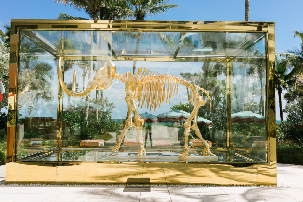 Oh look, a gilded woolly mammoth. At Faena. Travels in Miami Beach, Florida. By Vero Kherian for misscheesemonger.com.