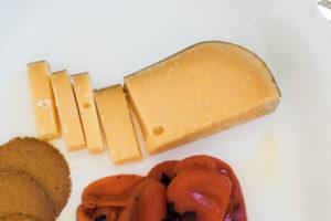A Garden party cheese plate. By Vero Kherian for misscheesemonger.com.