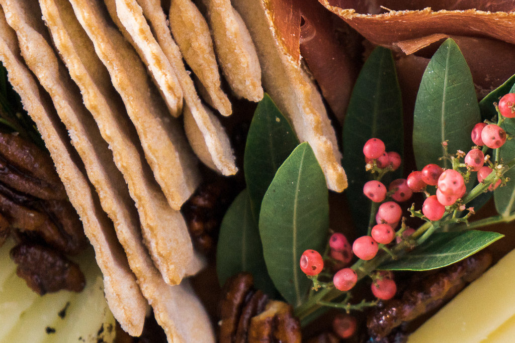 Rustic Bakery offers a wide variety of delectable flatbreads for your cheese board. An unforgettable holiday cheese board with Cheese Plus. By Vero Kherian for misscheesemonger.com.