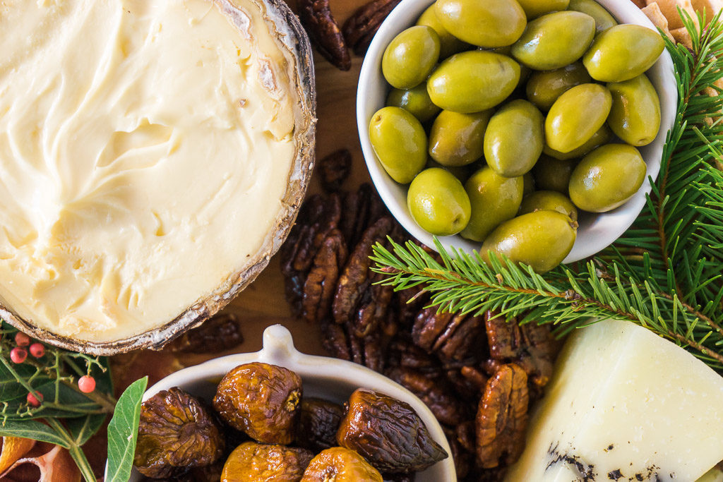 The svelte oval form of the Picholine olive is so inviting, isn't it? An unforgettable holiday cheese board with Cheese Plus. By Vero Kherian for misscheesemonger.com.