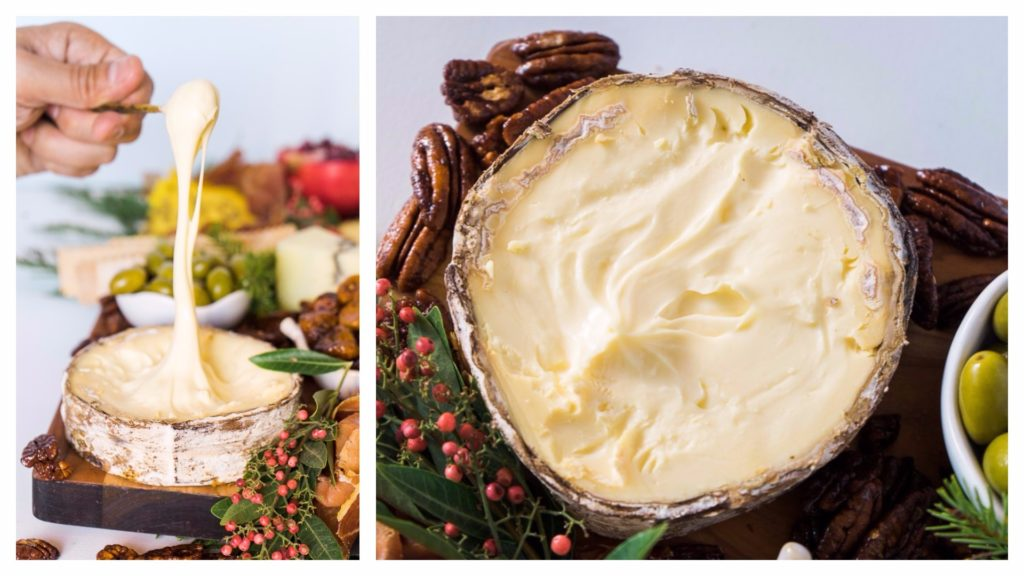 It's not a holiday cheese board without Rush Creek Reserve! No one can resist the charms of this hearty, lush, spoonable treat. An unforgettable holiday cheese board with Cheese Plus. By Vero Kherian for misscheesemonger.com.